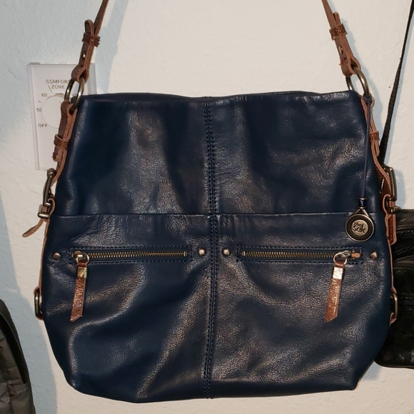 Navy Blue leather purse